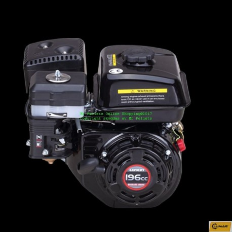 Loncin motor 6.5 hp horisontell axel 20 mm.