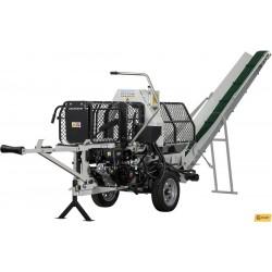 Lumag bensindrivna vedkap-klyvmaskin-halv-automat